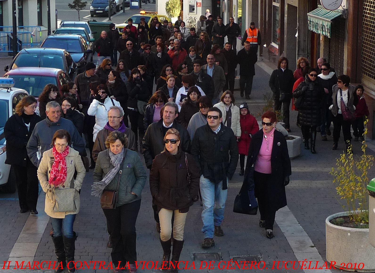 II Marcha contra la violencia de género en Cuéllar