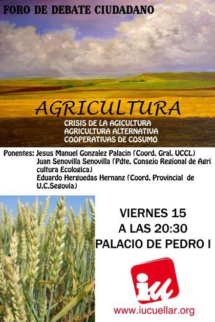 Cartel del Foro sobre agricultura